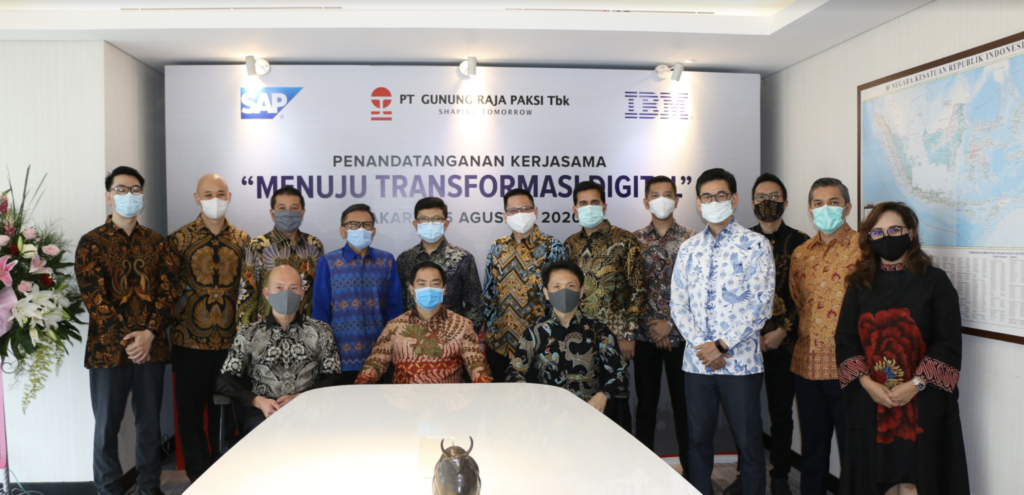 Management teams from GRP, IBM and SAP Indonesia met in August 2020 for a Digital Transformation meeting