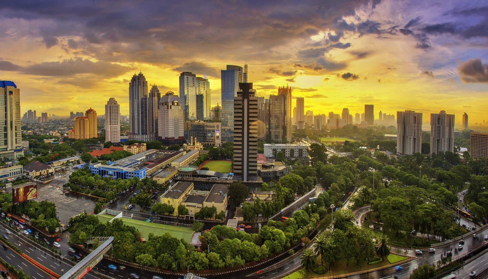 Jakarta, capital city of Indonesia, is the center of economics, culture and politics of Indonesia